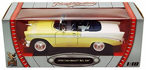 1956 Chevrolet Bel Air Convertible, Yellow - Yatming 92128 - 1/18 Scale Diecast Model Toy Car