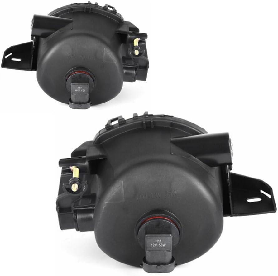 AUTOSAVER88 Fog Lights H11 12V 55W Halogen Lamp For BMW E90 3 Series 2006 2007 2008 Clear Lens w//Bulbs