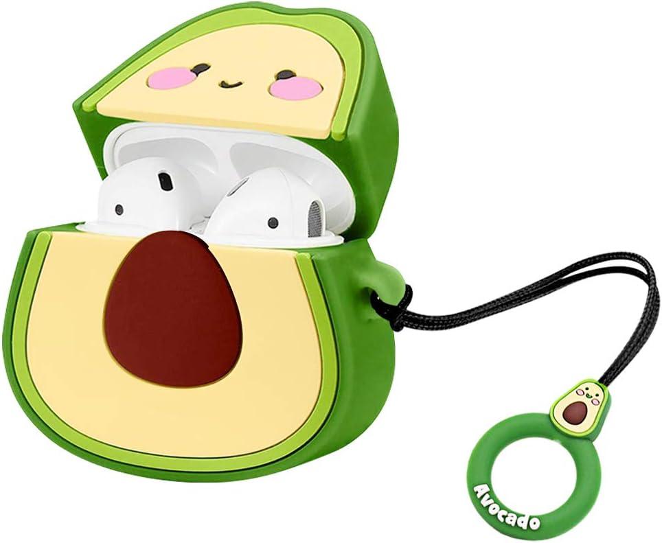 Cute Avocado AirPod ProCase Soft Silicone Cover Case for Airpods Pro