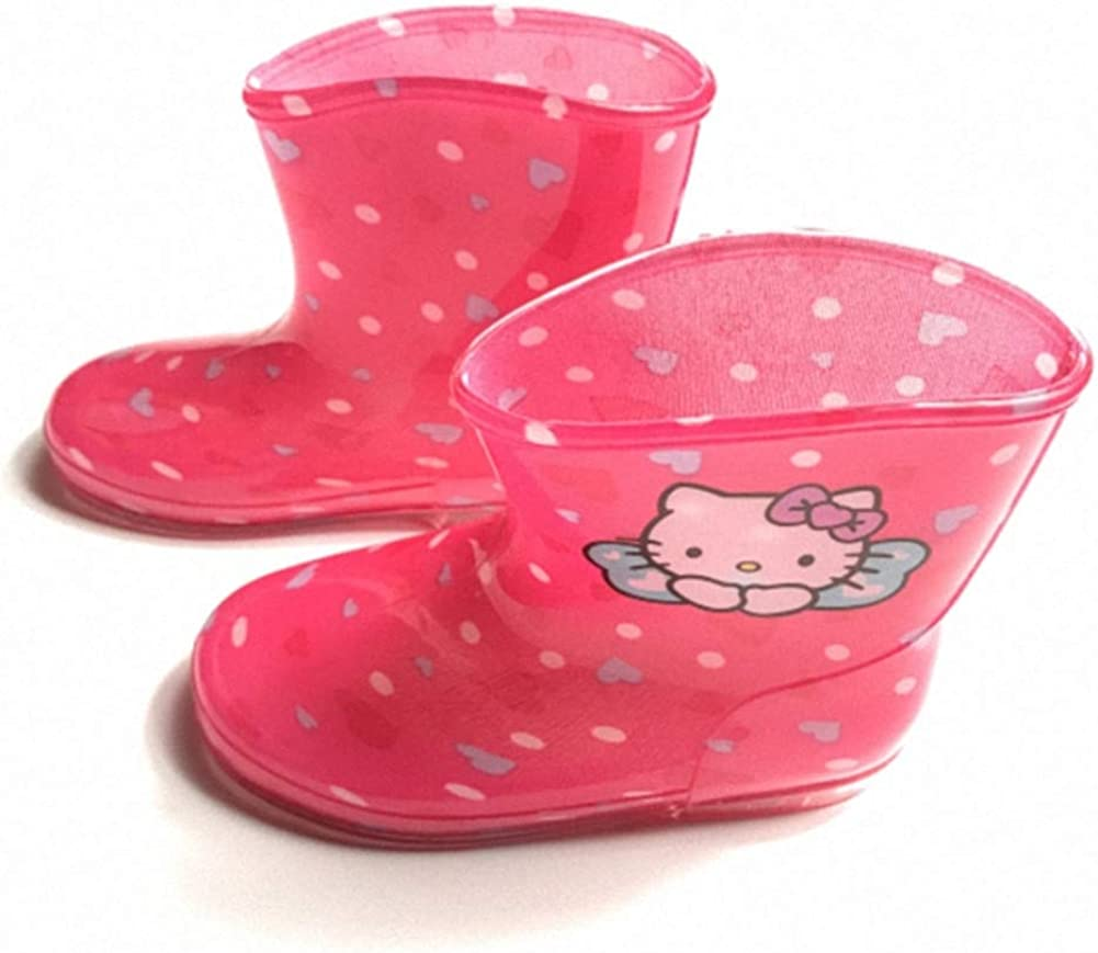 Baby Jelly Shoes rain Boots Printed cat Boots Toddler//Little Kid