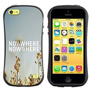 """Pulsar iFace Series Tpu silicona Carcasa Funda Case para Apple iPhone 5C , En ninguna parte del campo del verano Cielo azul Naturaleza"""""""