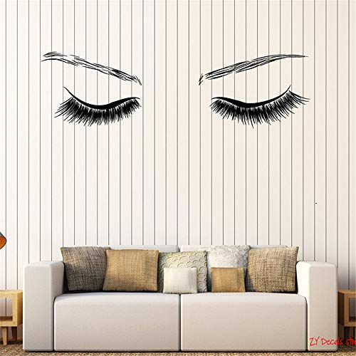- briend Wall Decal Sticker Art Mural Home Dcor Quote Beauty Sexy Eyes Spa Salon Girl Room Stickers Eyebrows with Eyelashes