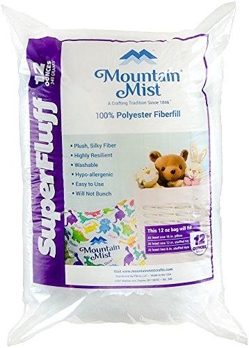 Mountain Mist Fiberfill - Mountain Mist B00455 SuperFluff Polyester Fiberfill Stuffing: 12 Ounces, Multicolor