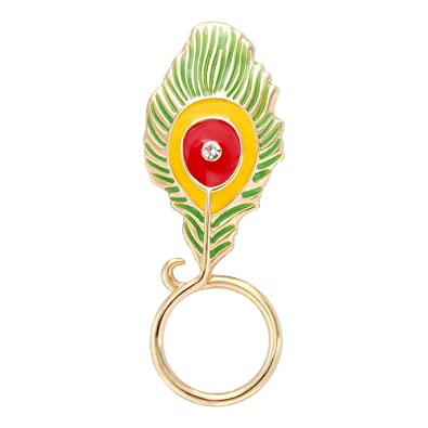 6bd98607259d Amazon.com  SenFai Peacock Feathers Magnetic Clip Holder Eyeglass Holder  Brooch Jewelry (1)  Jewelry