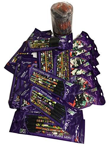 (Halloween Party Bundle for Classroom Schoolteachers Includes 24 Halloween Gel Pens, 6 Bags of 35 Halloween Mini-Erasers, 36 Halloween #2 Pencils and 30 Halloween Black Ballpoint)