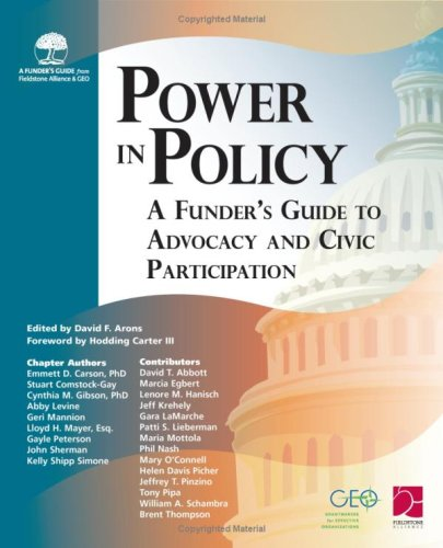 Download Power In Policy: A Funder's Guide to Advocacy and Civic Participation ebook