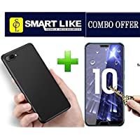 SmartLike Combo Offer for Honor 10 (Silicon Back Cover + 1 Premium Tempered Glass for Honor 10