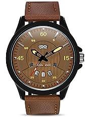KONXIDO Wasserdichte Mode-Serie männlich Quarz Kalender Uhr Dial analog-Display und Luxus echtes Lederarmband-Mode Design Kleid Uhr mit Edelstahlgehäuse