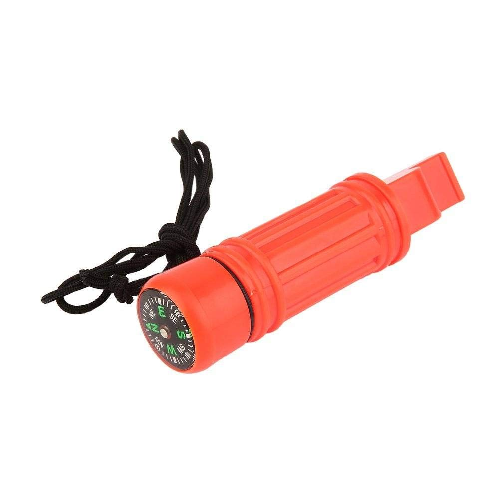 Amazing 5 in 1 Multi-Function Emergency Survival Compass Whistle Camping Tool