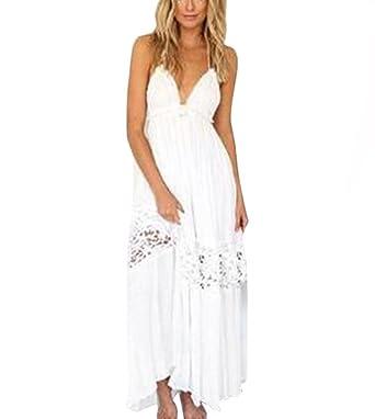 2064ba12a1 Amazon.com  Han Shi Bohemian Dress