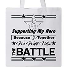 Inktastic Mesothelioma Supporting My Hero Tote Bag by HDD White