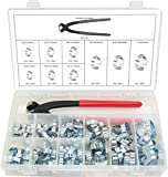 Swordfish 30310 - 2 Ear Hose Clamp and Standard Jaw Pincer Assortment Kit, 124 pieces