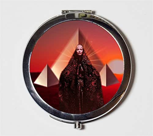 Pyramid Woman Compact Mirror Occult Psychedelic Trippy Gypsy Goddess Art Pocket Mirror Cosmetics
