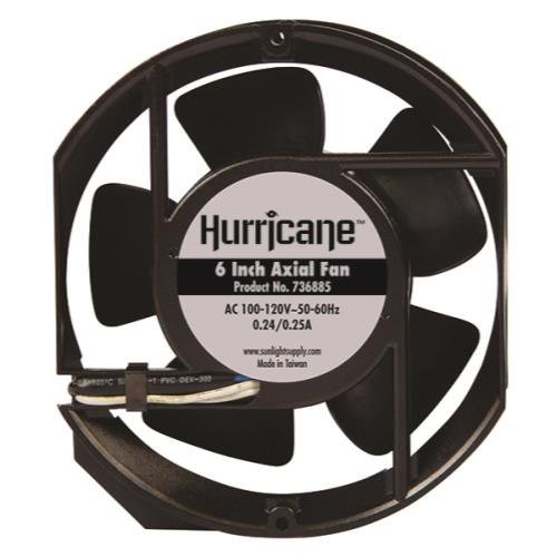 Hurricane 6-Inch Axial Fan for Greenhouses, - Harvest Hurricane