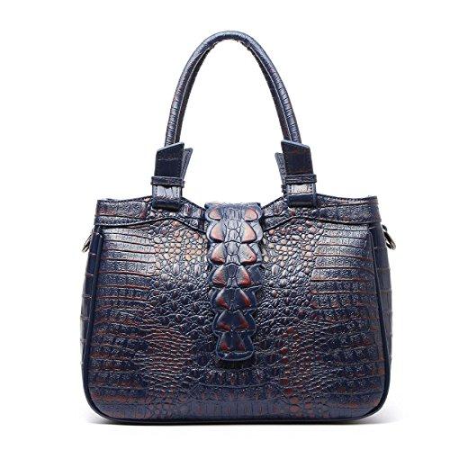 JPFCAK Ms Hand Bag Crocodile Pattern Bolsos De Señora De Cuero Genuino Bolso Clásico De Moda Elegante C