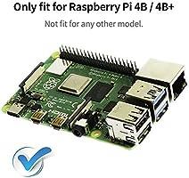 VICKSONGS Caja Kit para Raspberry Pi 4 Caja con 2 Pin Ventilador [5V/0,16A] de Refrigeración y Tapa de Ventilador ...