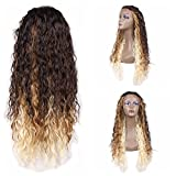 Jiayi Synthetic Lace Front Wigs Loose Curl Wigs Glueless Heat Resitant Long Curly Wave Wig for Black Women (24Inch 4/27/613)