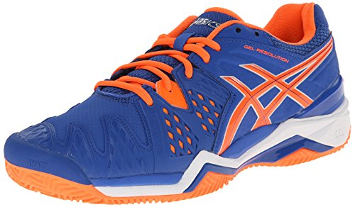 ASICS Herren Gel-Resolution 6 Sandplatz Tennisschuh Blau / Flash Orange / Silber