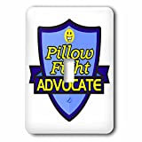 Dooni Designs – Funny Sarcastic Advocate Designs - Pillow Fight Advocate Support Design - Light Switch Covers - single toggle switch (lsp_242757_1)