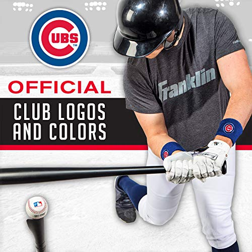 Franklin Sports MLB Team Licensed Baseball Wristbands - MLB Team Logo Sweat Wristbands - Great for Costumes + Uniforms - Pair