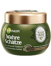 Garnier Echte Schatten Mythische Olive diepteverzorgingsmasker, haarkuur met olijfolie, haarverzorging voor droog haar, 300 ml