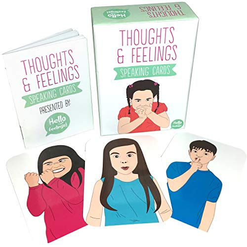 Thoughts & Feelings Speaking Cards - Card Game / Flash Cards for Developing Your Children's Emotional Intelligence, Empathy and Social Skills - Also for CBT Therapy, Autism and Montessori Use