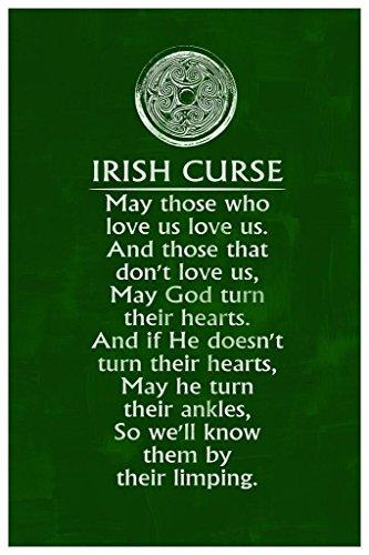 Irish Curse Art Print Cool Wall Decor Art Print Poster 24x36 (Irish Drinking Poster)