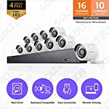 Samsung Wisenet SDH-C85100BF 16 Channel 4MP Super HD DVR Video Security System with 2TB Hard Drive and 10 4MP Weather Resistant Bullet Cameras (SDC-89440BF) – (Certified Refurbished) Review