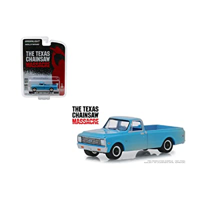 Greenlight 44820 B 1971 Chevrolet C-10 Pickup Truck Blue (Dusty) The Texas Chainsaw Massacre (1974) Movie Hollywood Series 22 1/64 Diecast Model Car: Toys & Games