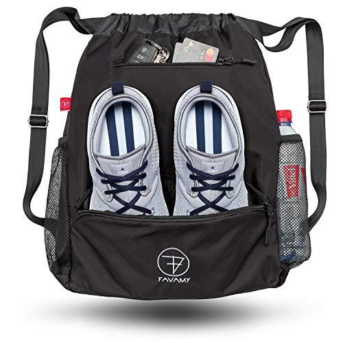 6a0bd662f5 Favamy Drawstring Waterproof Sports Swimming Backpack - Gymsack Universal  Size - Black