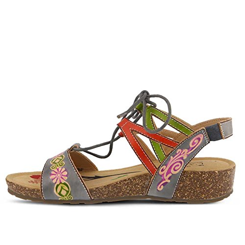 L'Artiste by Spring Step Women's Style Loma Leather Sandal Grey Multi free shipping get to buy Z3ydA