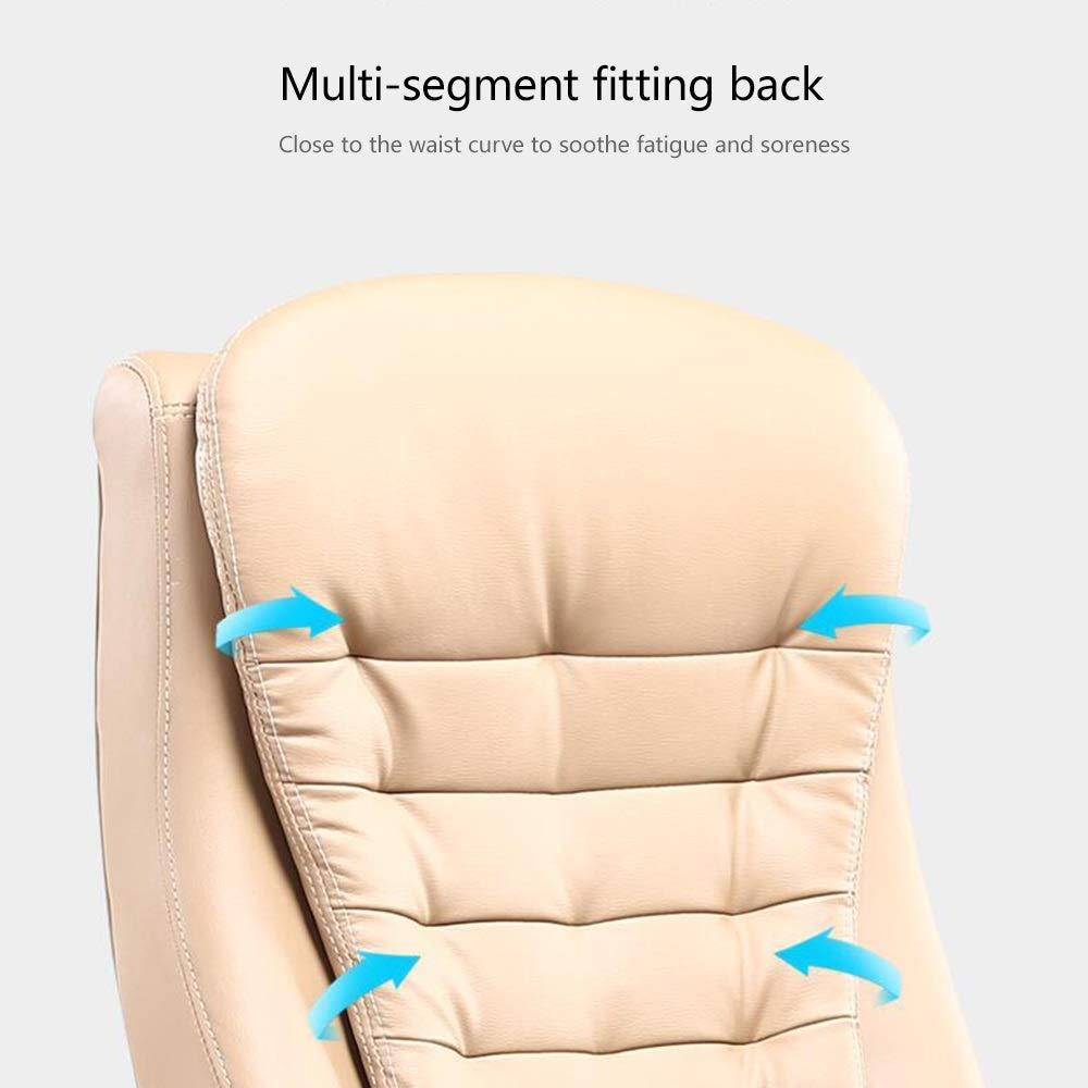 JIEER-C stol datorstol hög rygg PU-läder spelstol höjd justerbar ergonomisk svängbar datorstol dubbel kudde kontor skrivbordsstol för kontor mötesrum, kaffe Kaffe