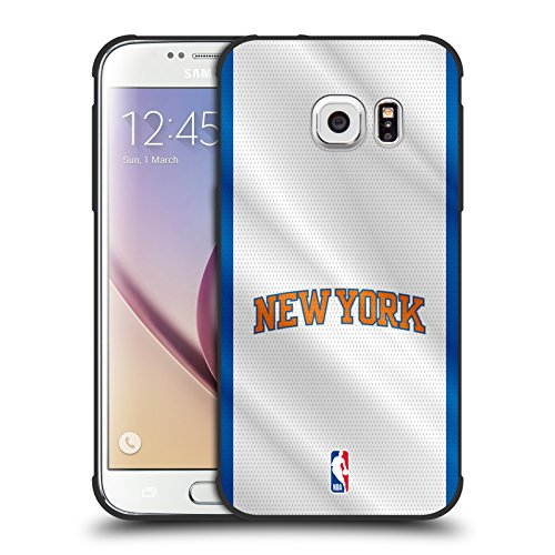 New York Matte Jersey - Official NBA Jersey New York Knicks Shockproof Matte Black Case for Samsung Galaxy S7