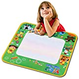 Meoket Children Learning Painting Drawing Writing Board Cloth Mat Toy with A Pen to Fill in Water Boy Girl Gift