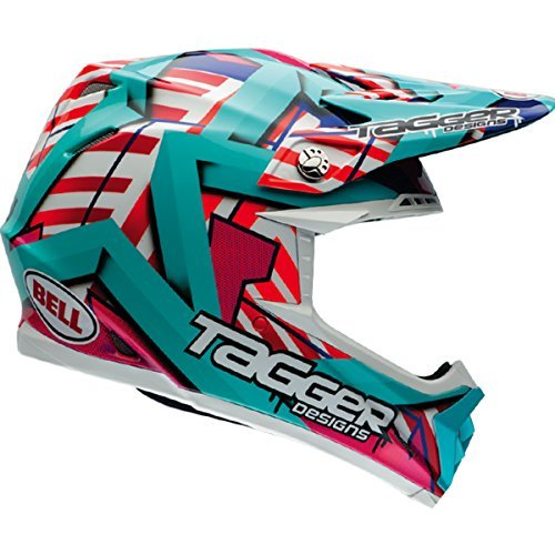 Bell Moto-9 Unisex-Adult Off Road Helmet (Tagger Trouble, Large) (D.O.T.-Certified) (Velocity Off Road Helmet)