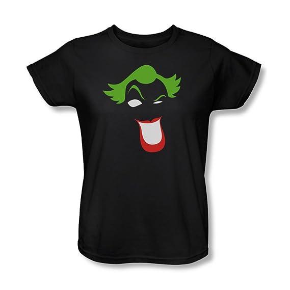 Shirt Femmes Ugmpsvzq En Simplifié Noir T Batman Joker PTwkiuOXZ