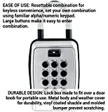 Master Lock Lock Box, Set Your Own Combination Push Button Portable Key Safe, 3-1/8 in. Wide, 5422D