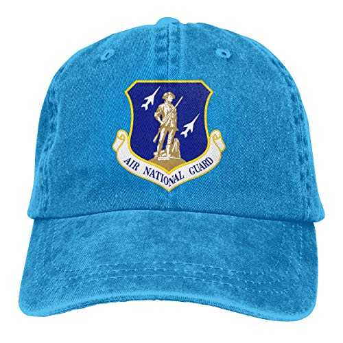 United States Air Force National Guard Men Women Classic Cotton Jeans Baseball Cap Adjustable Dad Hat Blue
