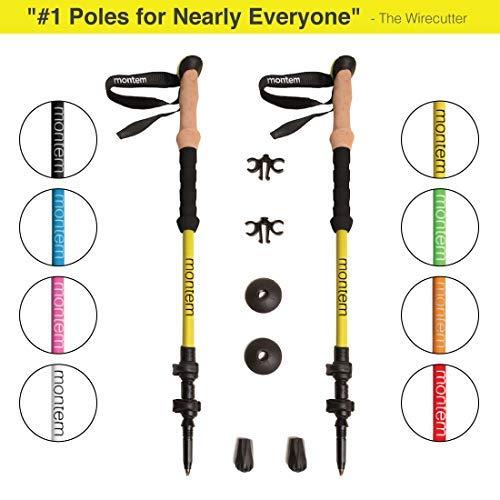 Montem Ultra Strong Hiking/Walking/Trekking Poles - One Pair (2 Poles) ()
