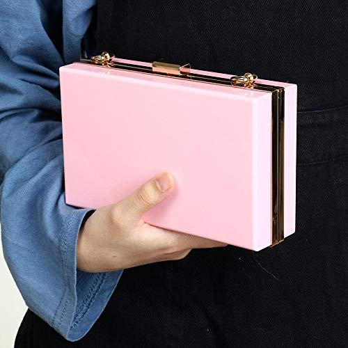 Acrylic for Transparent Cross Clutch Vintage Banquet Bag Handbag Clear Evening Women Body Pink Cute Purse EqAI4I
