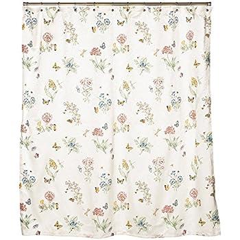 Lenox Butterfly Meadow Shower Curtain New