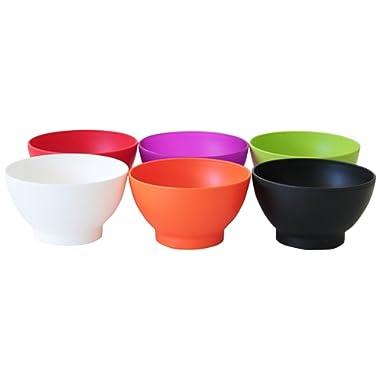 COZA DESIGN 6-Piece Set Bowl, 17 oz, Assorted Colors