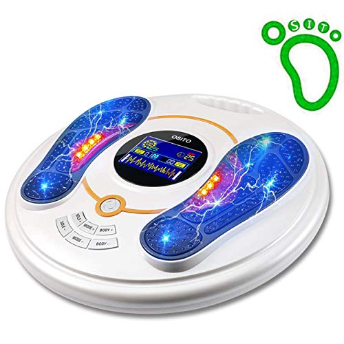 Latest Pain Relief Device OSITO Circulation System & Nerve Muscle Stimulator – Improves Foot Circulation and Neuropathy, Relieves Feet Legs Pains, Relaxes and Massages Body with TENS Unit & EMS, Clinical-Proven Effective 2019