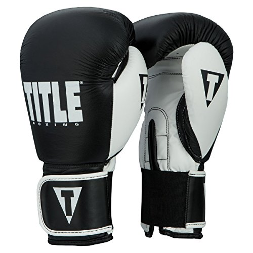 Title Boxing Dynamic Strike Heavy Bag Gloves, Black/White, 16 oz