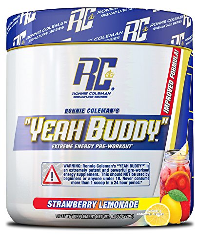 Ronnie Coleman Signature Series Yeah Buddy 30 Serve Pre-Workout Supplement, Strawberry Lemonade, 240 Gram