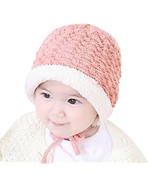 Baby Infant Pure Color Boy Girl Knit Beanie Warm Woolen Hat