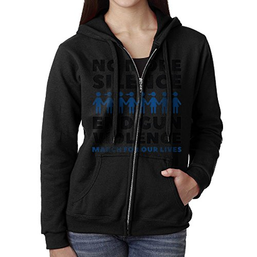 DerlonKaje Hoodies For Women Girls Sweaters Zip Fleece Sweatshirt March For Our Lives End Gun Violence
