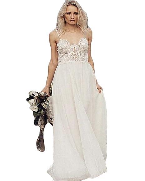 Amazon.com: WZW Bohemia Boho 2019 - Vestido de boda de ...