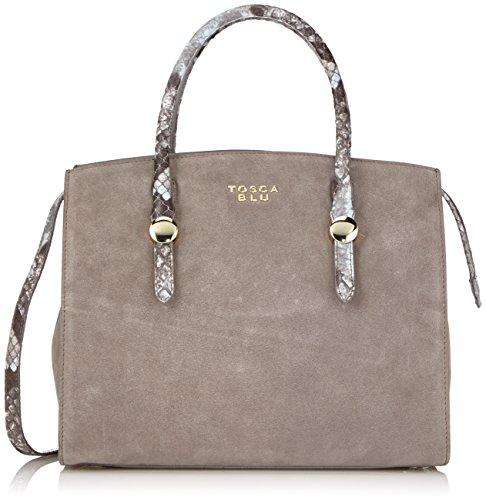 Talpa Tosca grigio Nero Blu C70 Grigio Borsa Pelle Donna Cioccolato Grau In gHgwZx