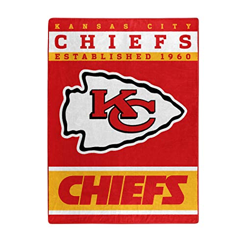 The Northwest Company Officially Licensed NFL Kansas City Chiefs 12th Man Plush Raschel Throw Blanket, 60